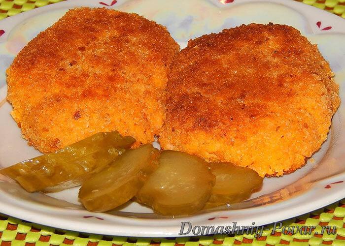 Морковные котлеты пошаговый рецепт с