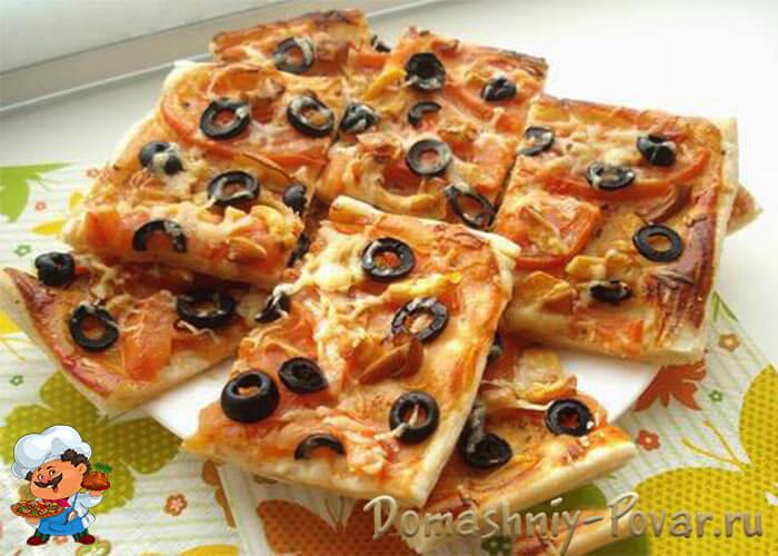 слоеная пицца в духовке