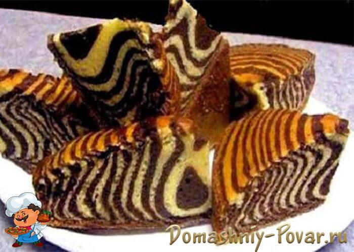 зебра с кефиром рецепт